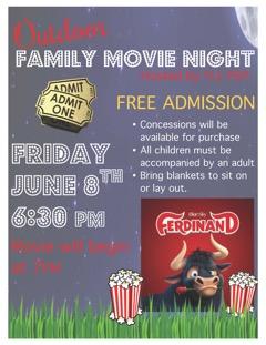 Movie Night Flyer 6-8