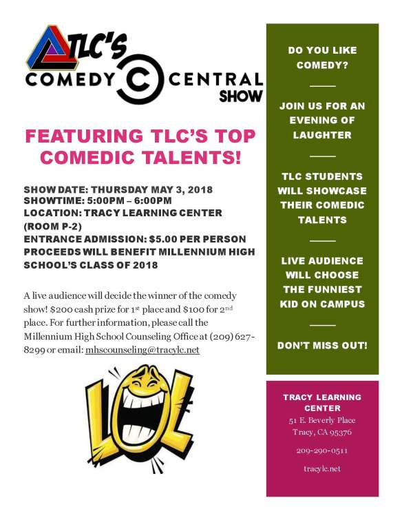 TLC Comedy Show 2018 - Flyer
